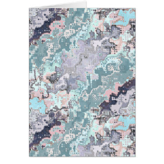 Abstract Pastels Pattern Card