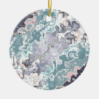 Abstract Pastels Pattern Ceramic Ornament