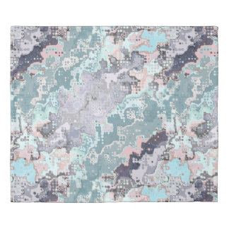 Abstract Pastels Pattern Duvet Cover
