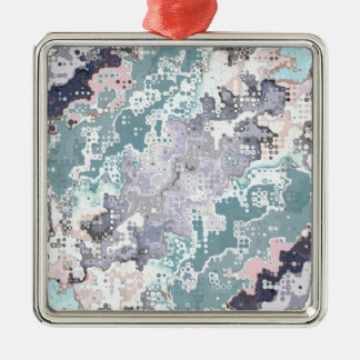 Abstract Pastels Pattern Metal Ornament