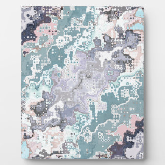 Abstract Pastels Pattern Plaque