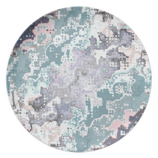 Abstract Pastels Pattern Plate