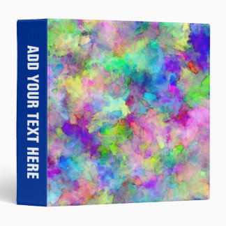 Abstract Patches of Color 3 Ring Binder