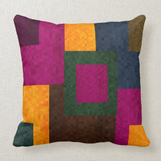 Abstract Patchwork Mosaic Tiles Pattern, Throw Pillow