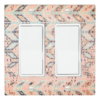 "Abstract ""Pathways"" Peach Double Rocker Light Switch Cover"
