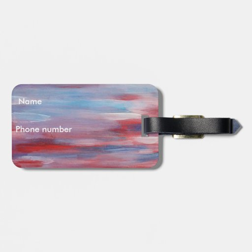 Abstract patriotic Art Tags For Bags