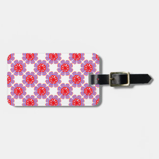 Abstract Patriotic Flower Luggage Tag