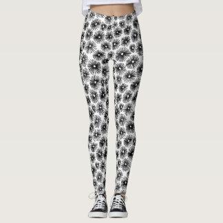 Abstract Pattern 101115 - Black Leggings
