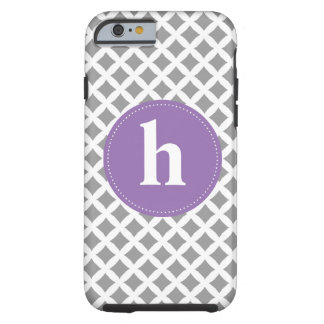 Abstract Pattern and Purple Monogram Tough iPhone 6 Case