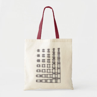 Abstract pattern budget tote bag