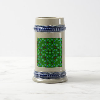 Abstract pattern beer steins