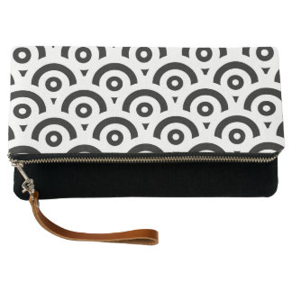 Abstract pattern - black and white. clutch