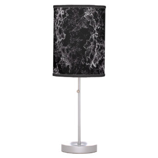 Abstract Pattern Black And White Haze Table Lamp