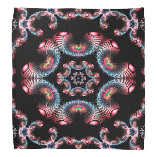 Abstract Pattern Black Pink And Blue Tile Bandana