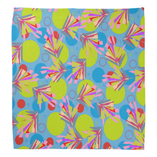Abstract Pattern Blue And Green Arabesque Bandana