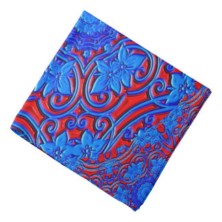 Abstract Pattern Blue And Red Background Bandana