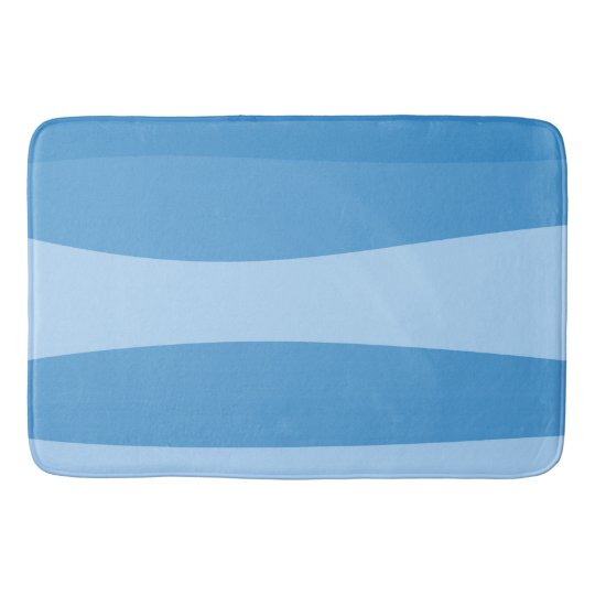 Abstract pattern - blue. bath mat