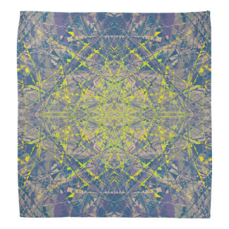 Abstract Pattern Blue Crystal Look Background Bandana