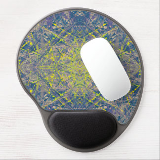 Abstract Pattern Blue Crystal Look Background Gel Mouse Pad