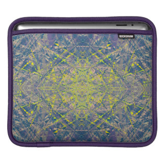 Abstract Pattern Blue Crystal Look Background iPad Sleeve