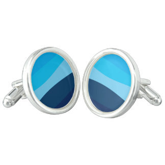 Abstract pattern - blue. cufflinks