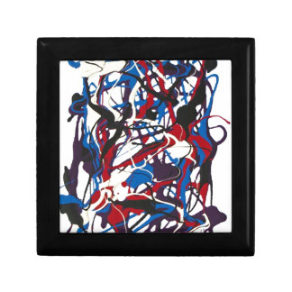 Abstract pattern blue, red, black, white. Modern. Gift Boxes