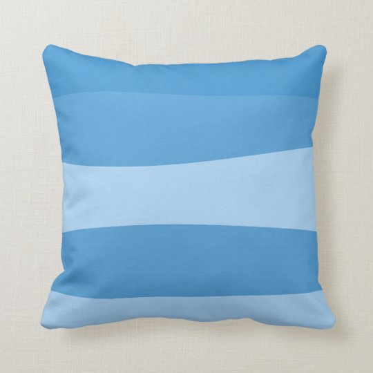 Abstract pattern - blue. throw pillow