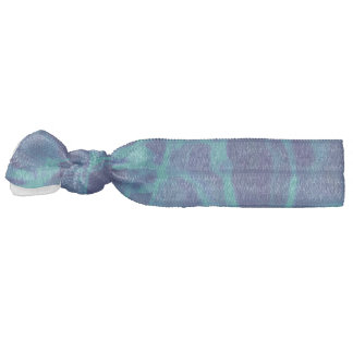 Abstract Pattern Blue Water Background Ribbon Hair Ties