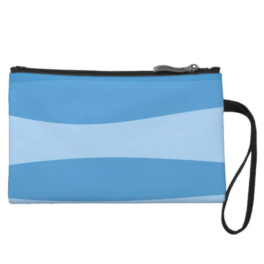 Abstract pattern - blue. wristlet