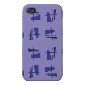 Abstract Pattern blues iPhone 4 Cases