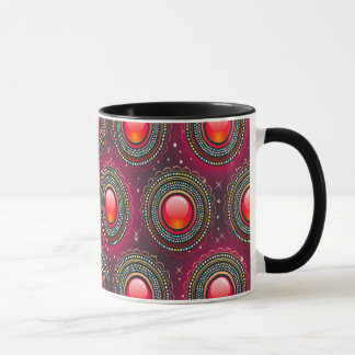 Abstract Pattern Concentric Circle Purple And Pink Mug