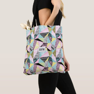 Abstract Pattern custom monogram bags