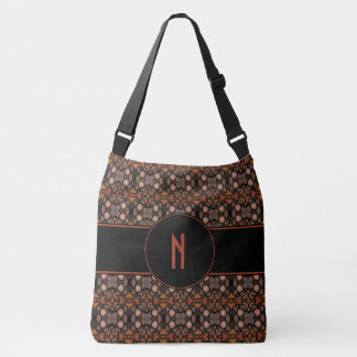 Abstract Pattern Custom Monogram Crossbody Bag