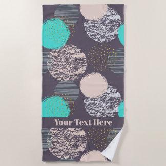 Abstract Pattern custom text beach towel