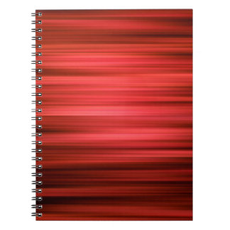 Abstract Pattern Dark Red Lines Spiral Notebooks