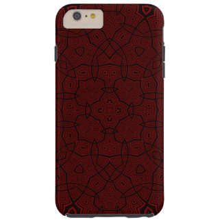 Abstract Pattern dark red Tough iPhone 6 Plus Case