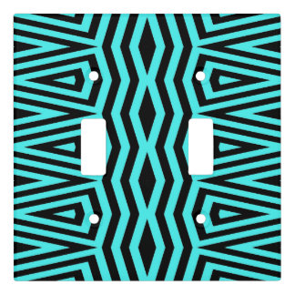Abstract pattern design light switch cover