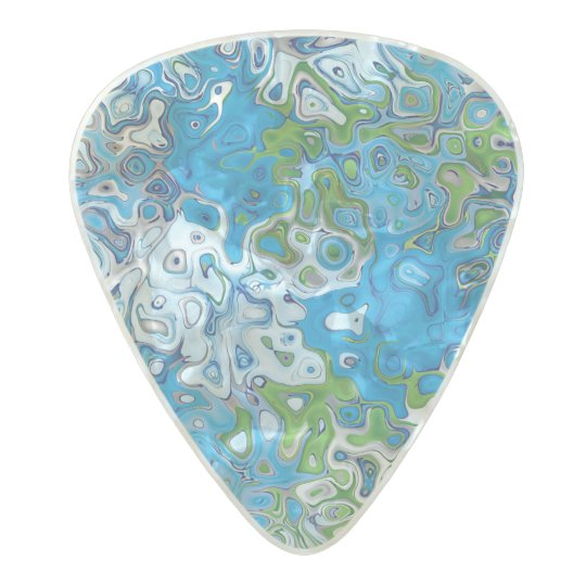Abstract pattern design pearl celluloid guitar pick