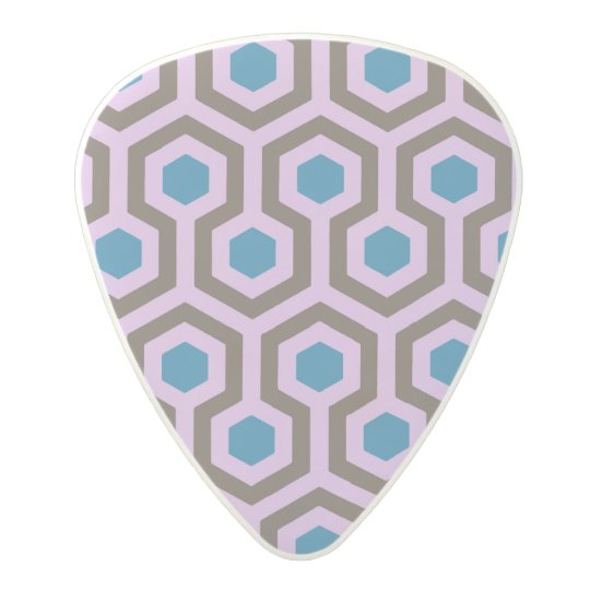 Abstract pattern design polycarbonate guitar pick