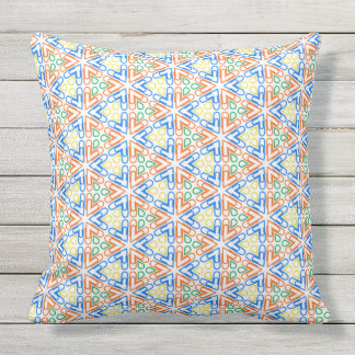 Abstract pattern design throw pillow