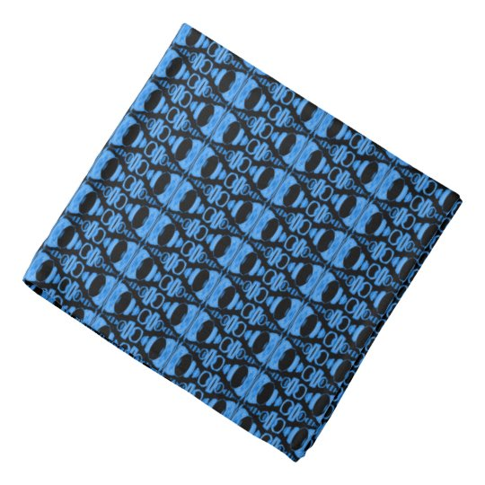 Abstract Pattern Dividers 02 Blue over Black Bandanna