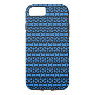 Abstract Pattern Dividers 02 Blue over Black iPhone 7 Case