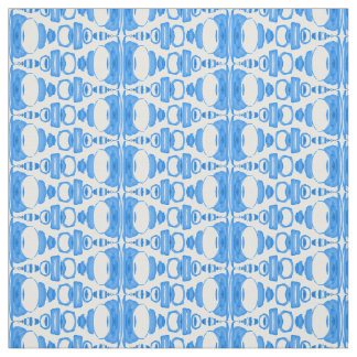 Abstract Pattern Dividers 02 Blue over White Fabric