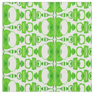 Abstract Pattern Dividers 02 Green over White Fabric