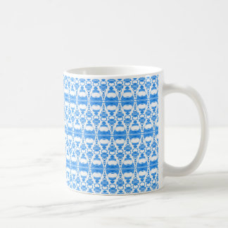 Abstract Pattern Dividers 02 in Light Blue White Coffee Mug