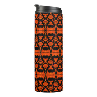 Abstract Pattern Dividers 02 Orange Black