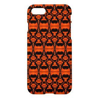 Abstract Pattern Dividers 02 Orange Black iPhone 7 Case
