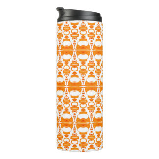 Abstract Pattern Dividers 02 Orange over White