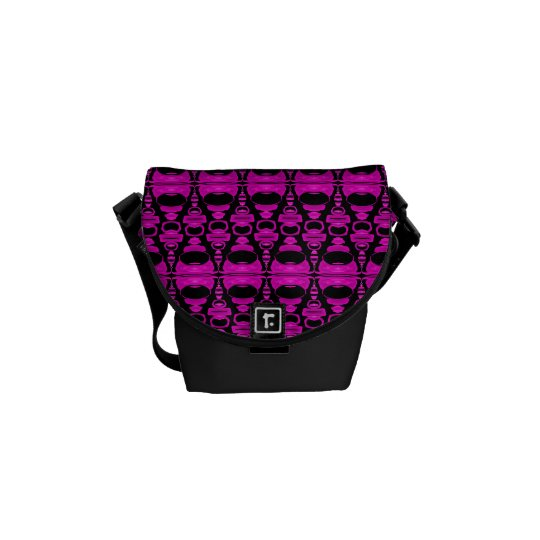 Abstract Pattern Dividers 02 Purple Pink Black Messenger Bag
