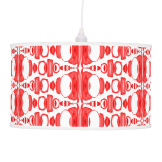 Abstract Pattern Dividers 02 Red and White Pendant Lamp